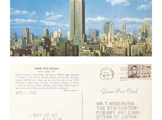 Postcards by On Kawara