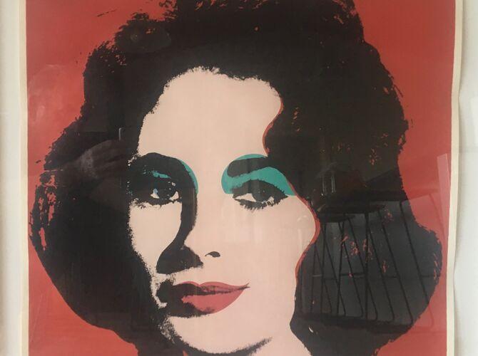 Elizabeth Taylor by Andy Warhol