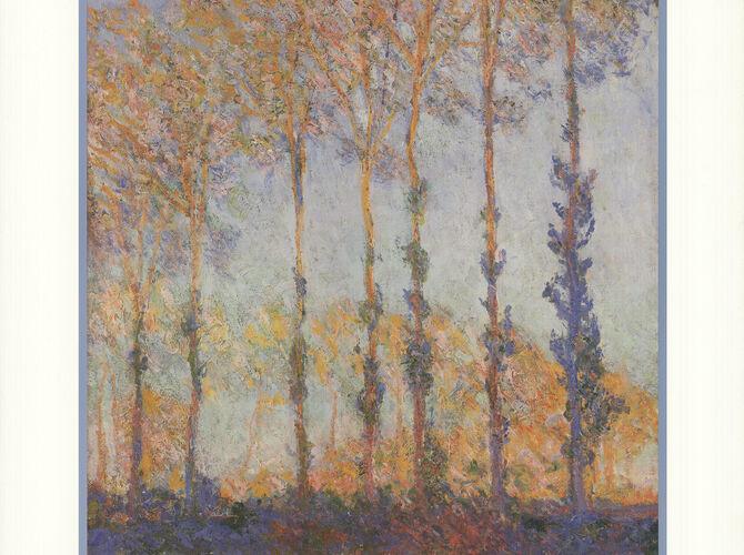 Poplars by Claude Monet