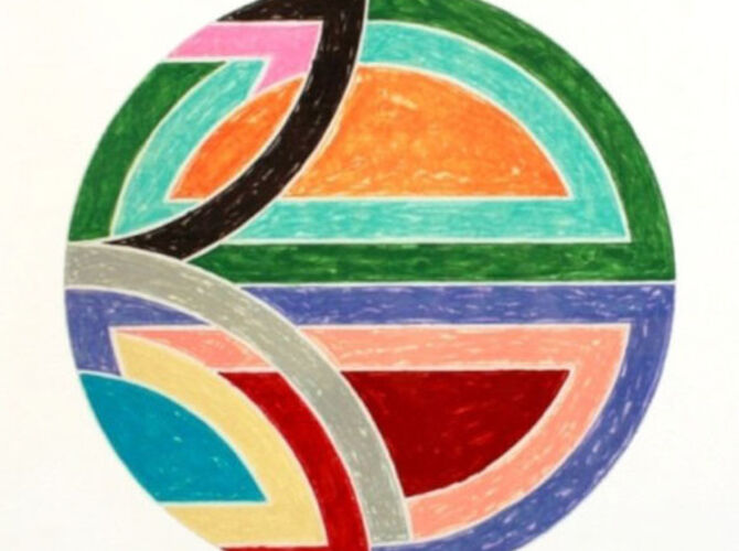 Protractor Series by Frank Stella