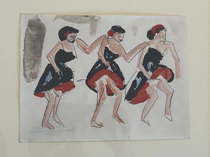 Dancers by Ernst Ludwig Kirchner