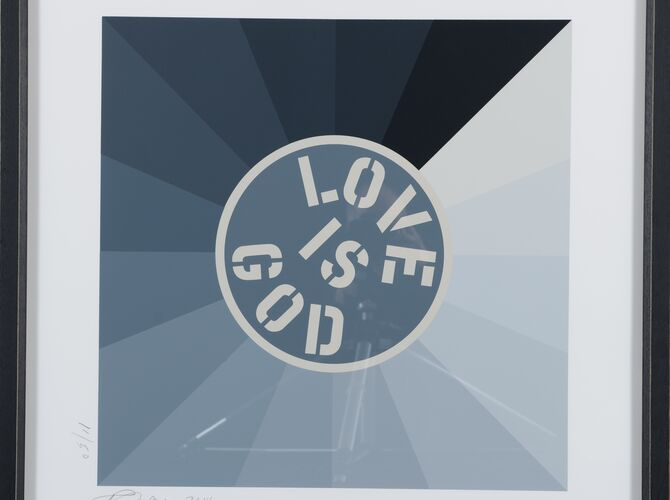 Love is God by Robert Indiana