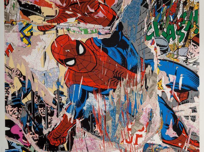 Spiderman by Mr. Brainwash