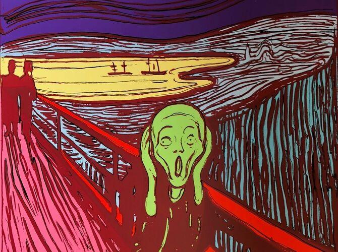Edvard Munch by Andy Warhol