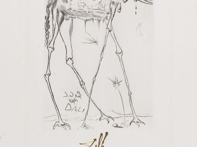 Elephants by Salvador Dalí