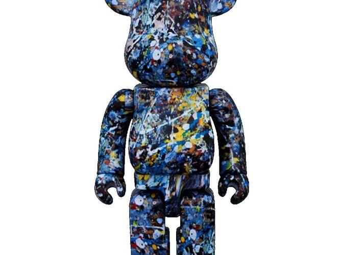 Bearbrick by Jackson Pollock