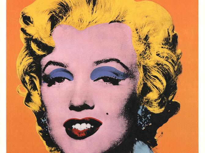 Orange Marilyn by Andy Warhol