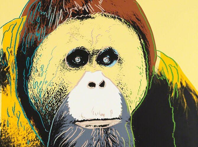 Orangutans by Andy Warhol