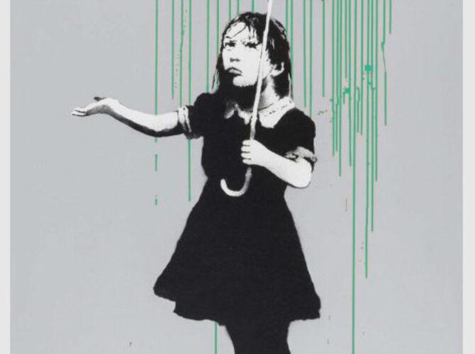 Rain by Banksy