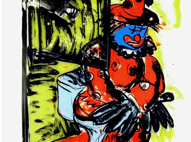 Clowns by Bruce Nauman