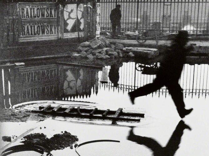 Behind The Gare Saint-Lazare by Henri Cartier-Bresson
