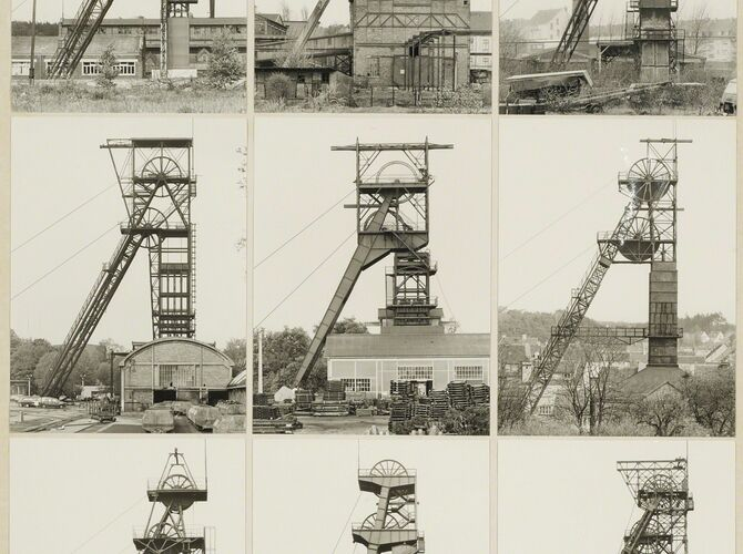 Winding Towers by Bernd and Hilla Becher