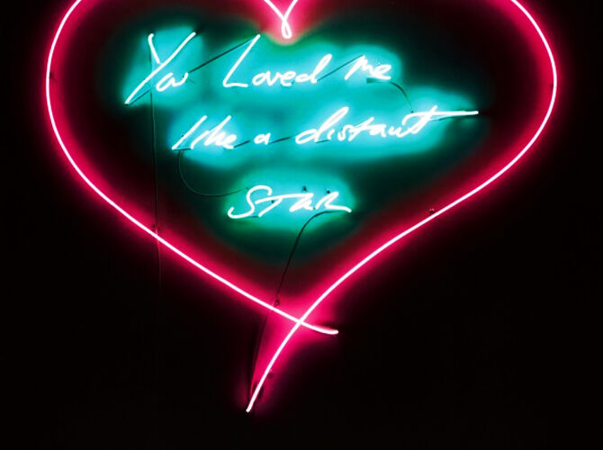 Neon Sculptures and Prints by Tracey Emin