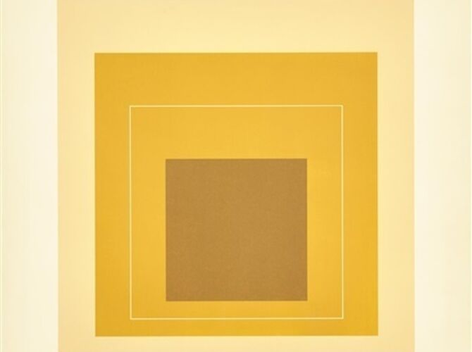 White Line Squares by Josef Albers