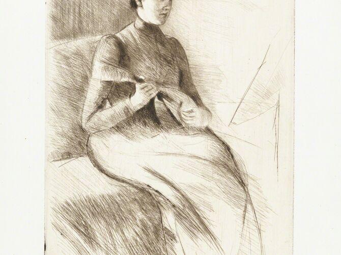 Mandolin Player by Mary Cassatt