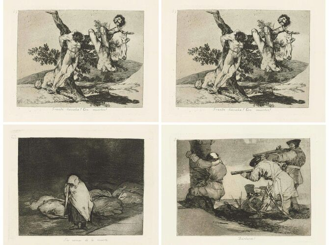 Disasters of War by Francisco de Goya