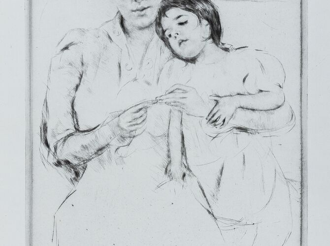 Drypoint by Mary Cassatt