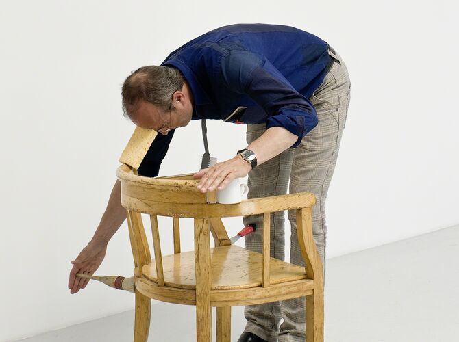 One Minute Sculptures by Erwin Wurm