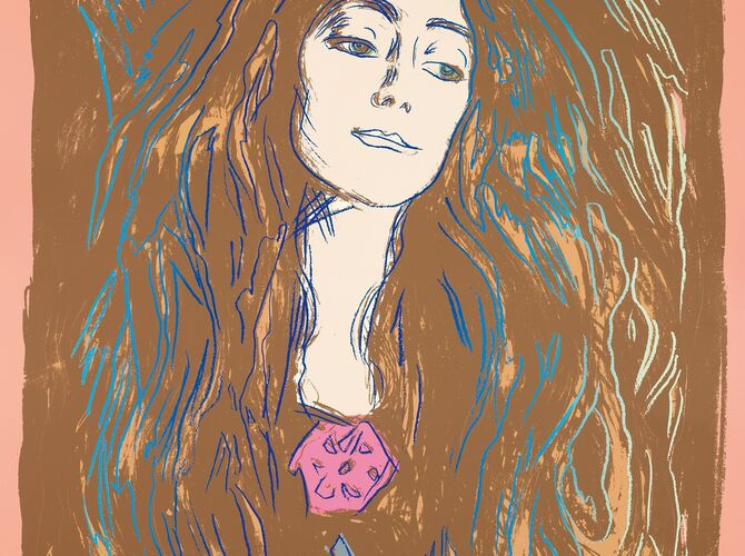 Eva Mudocci (After Munch) by Andy Warhol