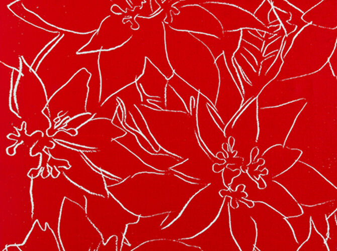 Poinsettias by Andy Warhol