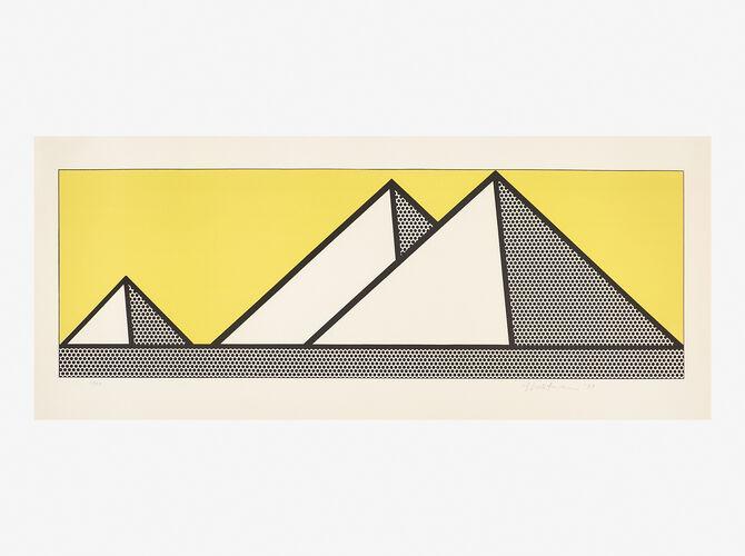 Pyramids by Roy Lichtenstein