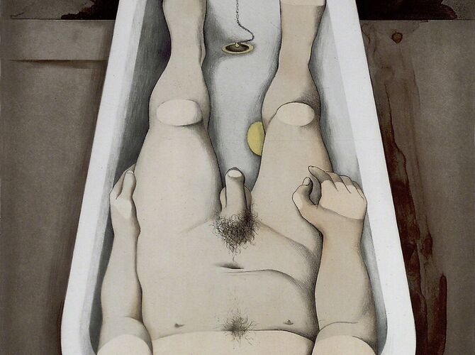 He Foresaw His Pale Body by Richard Hamilton