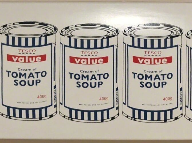 Soup Cans by Banksy