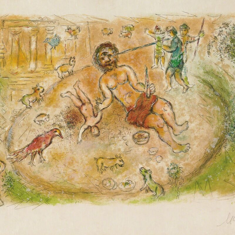 Marc Chagall, 'Polyphemus (M.776, L'Odyssée)', 1974, Print, Hand-signed lithograph, Martin Lawrence Galleries