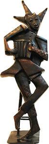 Arlequin à l'accordéon