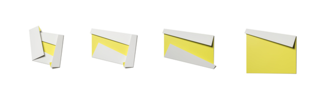 White & Yellow Folded Flat Sequence 01
