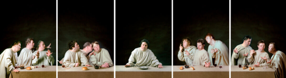 Last Supper. Poliptych from 5 parts