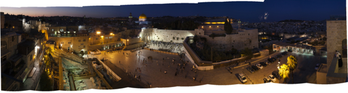 Western Wall Plaza at Night