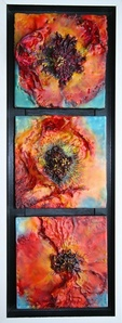 Fire Poppy Triptych
