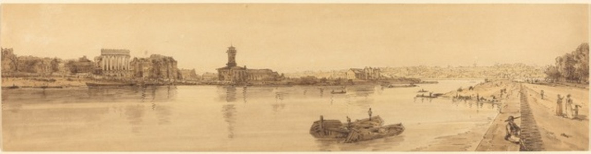 View of the Village of Chaillot from the  Pont de la Concorde: pl.17