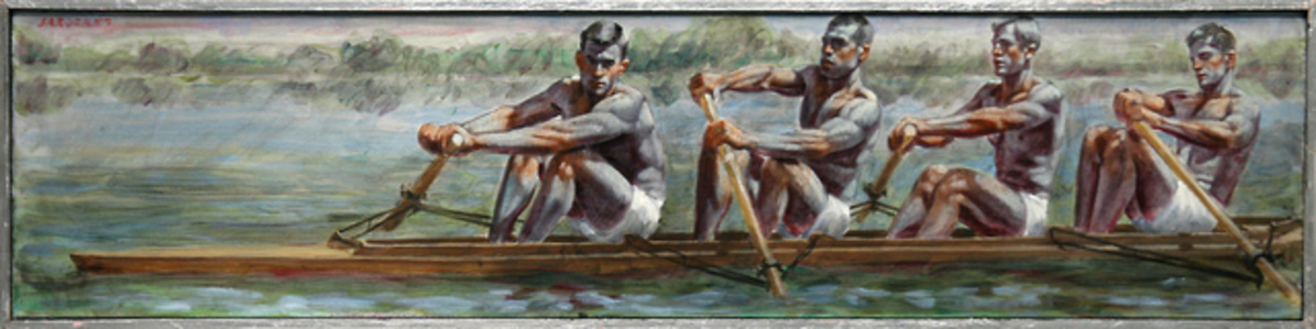 [Bruce Sargeant (1898-1938)] Four Rowers