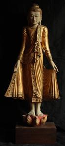 Burmese Standing Buddha (Mandalay Style)