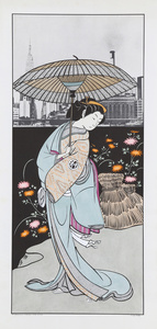 Woman with Umbrella after Buncho