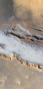 Ground Fog in Valles Marineris, Mars Express, May 25, 2004