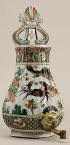 Cisterna de pared China, familia verde, periodo Kangxi