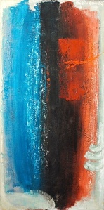 Untitled (Blue, Black and Red Composition)