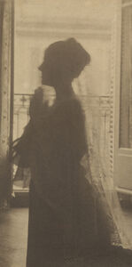 Silhouette of a Woman / A Maiden at Prayer