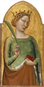 A Crowned Virgin Martyr (St. Catherine of Alexandria)