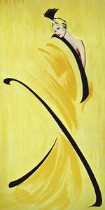 Hommage à Gruau, jaune