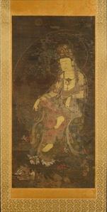 Water-moon Avalokiteshvara (수월관음도 고려 水月觀音圖 高麗)
