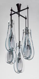 Rare 5-Light Hanging Fixture