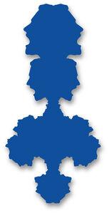 Rorschach Portrait (blue)