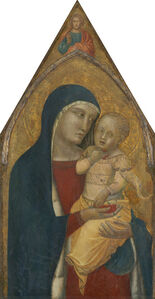Madonna and Child with Saint Mary Magdalene and Saint Catherine [middle panel]