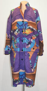 Neoprene Coat in Purple Full, Extra Layer Collection