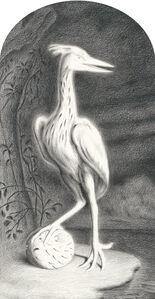 Heron with Pufferfish