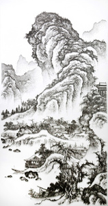 Imitating the Landscape Painting by Anonymous Artist from Song Dynasty 3